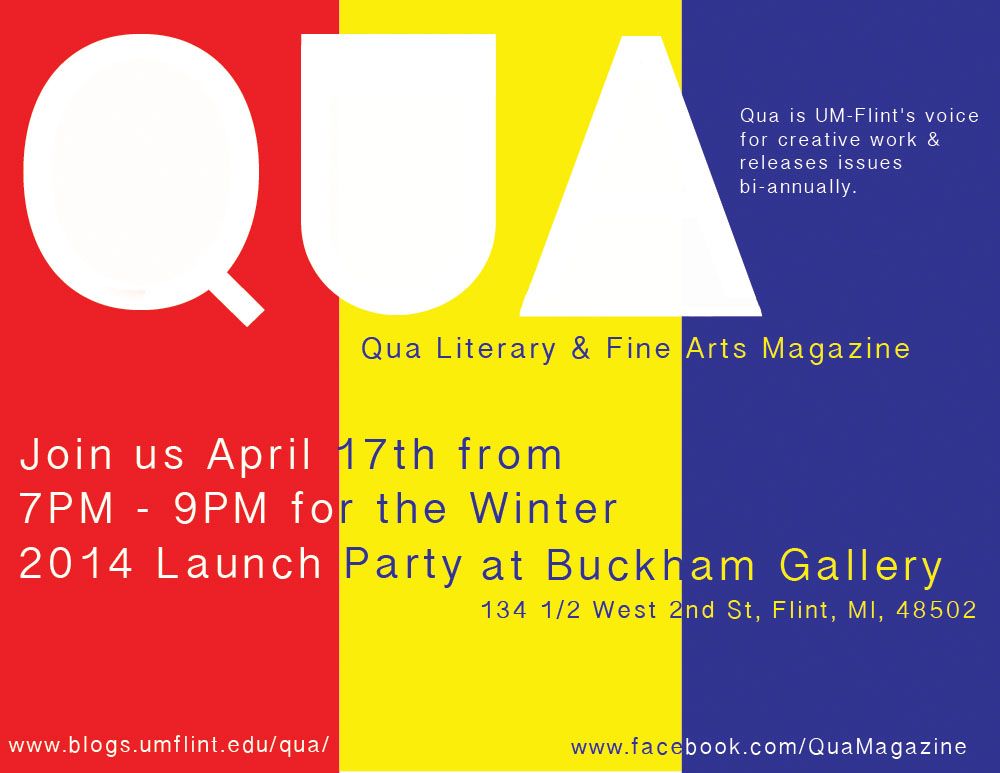 Qua Literary Fine Art Magazine Promotional Items Zine