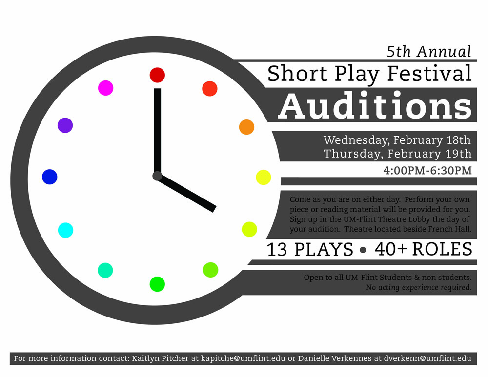 Short Play Festival Theatre UofM